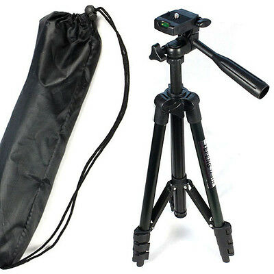 New Flexible Standing Tripod + 3-Way Head for Sony for Canon for Nikon Camera A