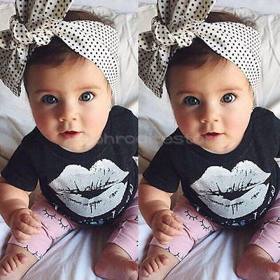 2pcs Newborn Toddler Infant Baby Girls Clothes T-shirt Tops+Pants Outfits 18-24M