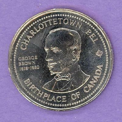 1982 Charlottetown PEI Trade Token or Dollar Province House George Brown NBS