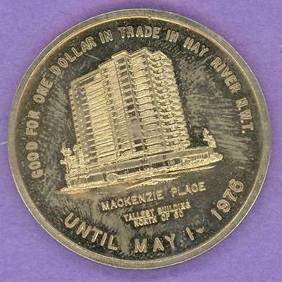 1976 RARE Hay River NWT Trade Dollar or Token MacKenzie Place