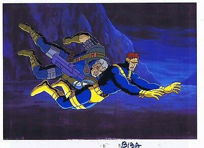 X-Men Animated Series 1992 Original Production Animation Cel & Copy Bkgd #A17639