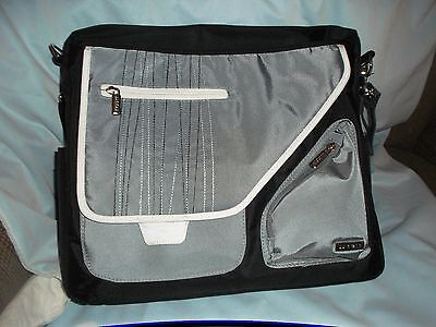 New JJ Cole Baby Diaper Bag Black & Gray Pacifier pouch Changing Pad