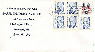 US Earliest Known Use #2170b White Untagged Error, Bayless (2985)