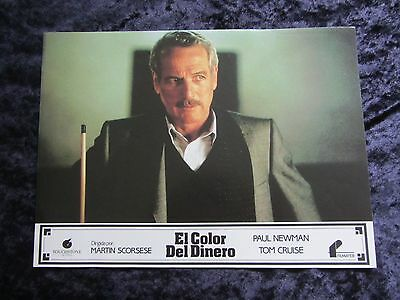 THE COLOR OF MONEY lobby card  # 8 - PAUL NEWMAN, MARTIN SCORSESE