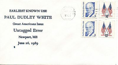 US Earliest Known Use #2170b White Untagged Error, Bayless (3824)
