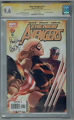 New Avengers #17 Ss Cgc 9.6 Nm+ Wp Marvel Comics 2006 Signed Bendis & Deodato Jr