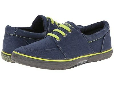 NEW Sperry Top-Sider Boys Voyager Navy Saltwash Boat Shoes SIZE 8 1/2 8.5