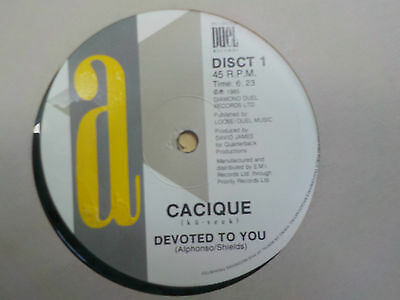 """Cacique Devoted To You 1985 Soul Rare Groove 12"""" Vinyl Single"""