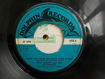 """Sean Dunphy & The Hoedowners When Fields White With Daisies 1969 Irish 7"""" Vinyl"""