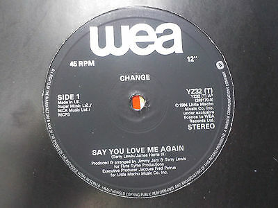 "Change Say You Love Me / Medley 1984 Soul Funk Disco Rare Groove 12"" Vinyl"