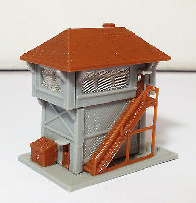 Outland Models Train Railway Layout Train Station Signal Box / Tower Z Gauge