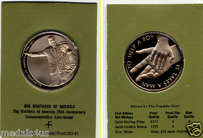 Big Brothers of America Beautiful Bronze Commemorative Coin Medal