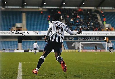 "FRED ONYEDINMA AUTOGRAPH MILLWALL HAND SIGNED ""12x8"" PHOTO"