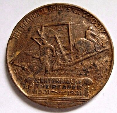 1831 INTERNATIONAL HARVESTER Co. Commemorative Medallion of the Reaper 1931