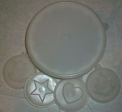 Tupperware Vintage Jello Mold/Ice Mold, Holidays - Changeable inserts