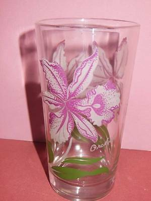 Vintage Peanut Butter Glass Orchid Raspberry