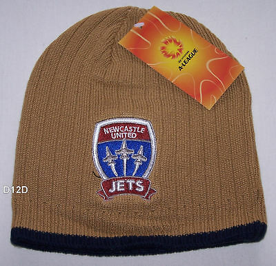 Newcastle United Jets Hyundai A League Mens Embroidered Beanie One Size New