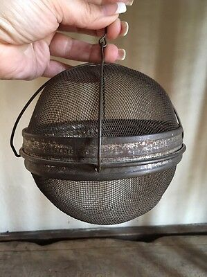 RARE Early Antique Tin Hanging Shoofly Cover Unusual Form AAFA