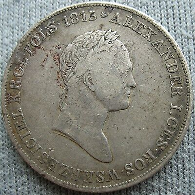 1829 FH Poland Russian 5 Zlotych