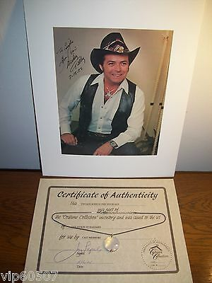 Rare Screen-Worn 1982 Dukes Of Hazzard Necklace Prop, Mickey Gilley Signed Photo