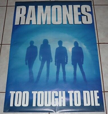 RAMONES Rare Vtg TOO TOUGH TOO DIE Original 24x36 POSTER MINT! New Old Stock!