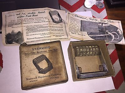 Vintage Original Automobiles nos Accelerator Foot Rest Parts in box