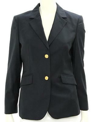 Brooks Brothers Navy Blue Wool Two Button Blazer Size 4P
