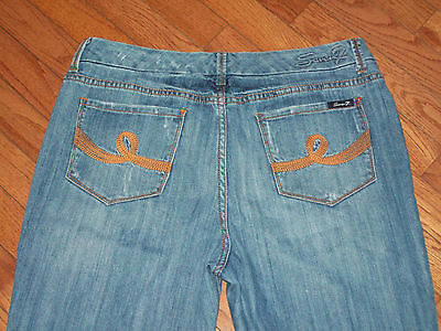Womens Seven 7 Boot Cut Stretch Jeans Size 12