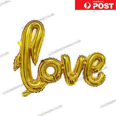 40 inch Love Foil Balloon Wedding Script Handwriting Home Decoration Gold
