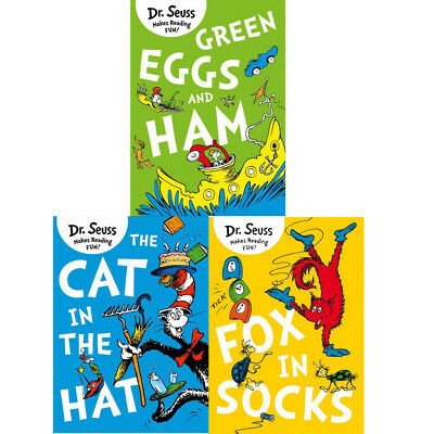 Dr. Seuss Collection 3 Books Set(The Cat in the Hat & Fox in Socks)New Paperback