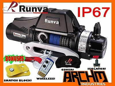 Runva 11Xp Premium Tf Ip67 12V 11000Lb 4Wd Electric Recovery Winch