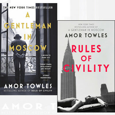 Amor Towles A Gentleman in Moscow 2 Books Collection Set NEW Rules of Civility
