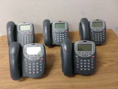 One Lot of 5 AVAYA 4610SW IP VOIP Business Telephones Black / Grey WORKING