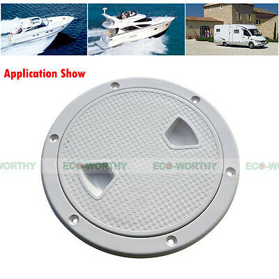 6'' ABS White Round Deck Plate Inspection Hatch Marine Screw Out Boat Access AU
