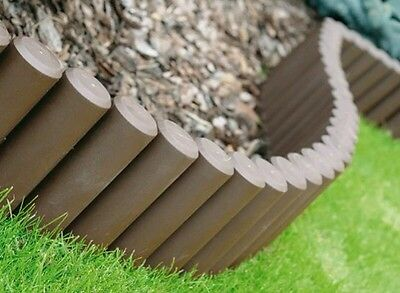 HQ Very Strong Garden Fence Lawn Edging Boarder Edge Palisade Fencing 2.1 m