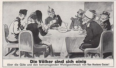1913 Print Ad Nations Agree on The Quality and Great Taste of Van Houtens Cacao