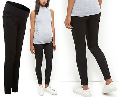 New Look Black Maternity Pregnancy Jeggings Denim Smart Trousers Size 8 - 18