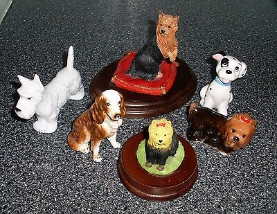 Set Of Six Country Artists, Academy, Disney Dogs Figurines