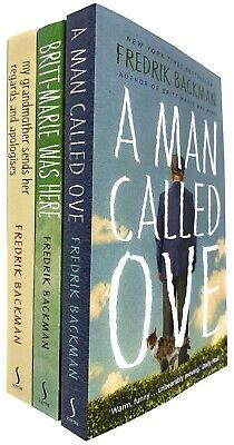 Fredrik Backman A Man Called Ove 3 Books Collection Set Britt-Marie Was Here NEW