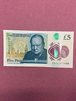 new polymer five pound note aa11