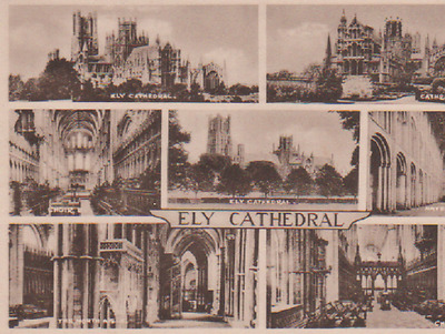 Vintage Postcard Ely Catherdral Unposted