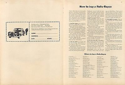 How to buy a Rolls-Royce 2-page ad 1964