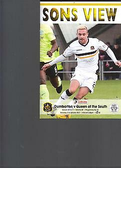 PROGRAMME - DUMBARTON v QUEEN OF THE SOUTH - 21 JANUARY 2017