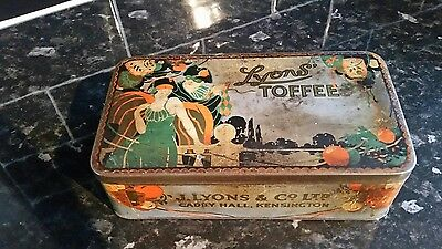 Vintage Lyons Toffee Tin A/ F