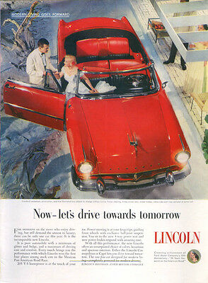 Lincoln Now let's drive towards tomorrow ad 1953