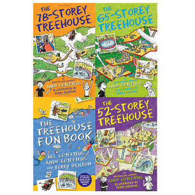 Treehouse Collection By Andy Griffiths 4 Books Set 78-Storey Treehouse BRAND New