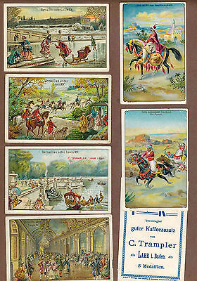 TYPE CARDS: Collection of RARE Victorian TRAMPLER COFFEE Cards (1900)O