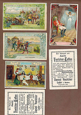 TYPE CARDS: Collection of RARE Victorian TRAMPLER COFFEE Cards (1900)S