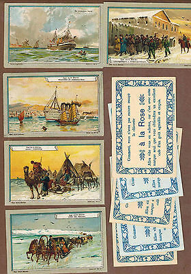 TYPE CARDS: Collection of RARE Victorian TRAMPLER COFFEE Cards (1900)T
