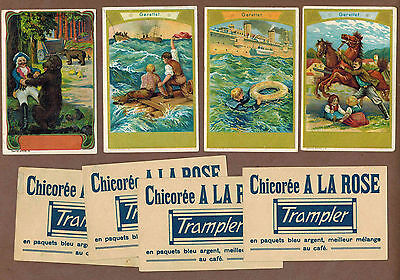 TYPE CARDS: Collection of RARE Victorian TRAMPLER COFFEE Cards (1900)X